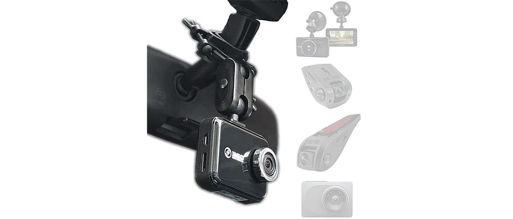 Amortek Dash Cam Mirror Mount - 5 Different Joints Kit Suitable for Most Car Camera