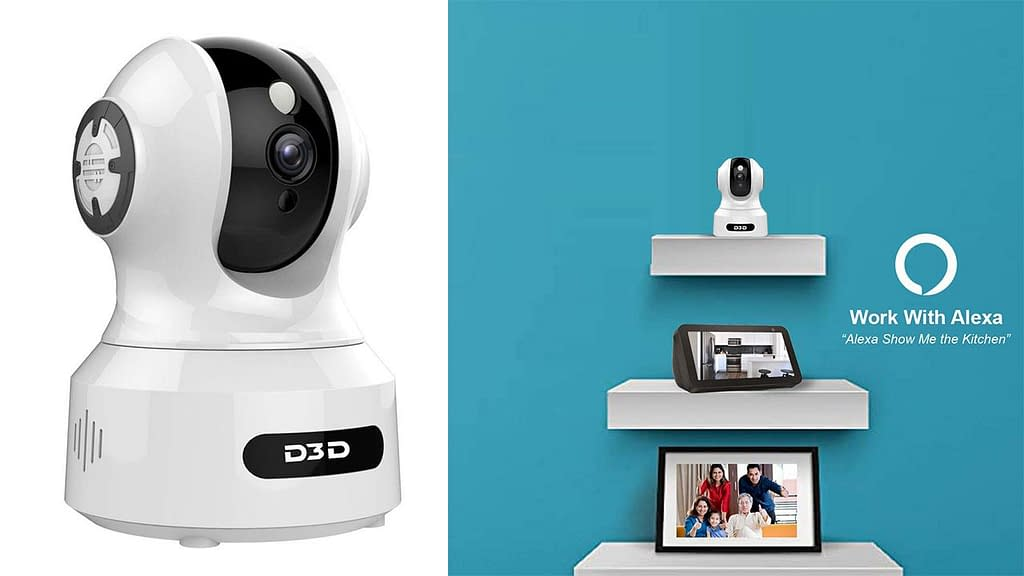 D3D 826 1080P Night Vision Home Security CCTV Camera