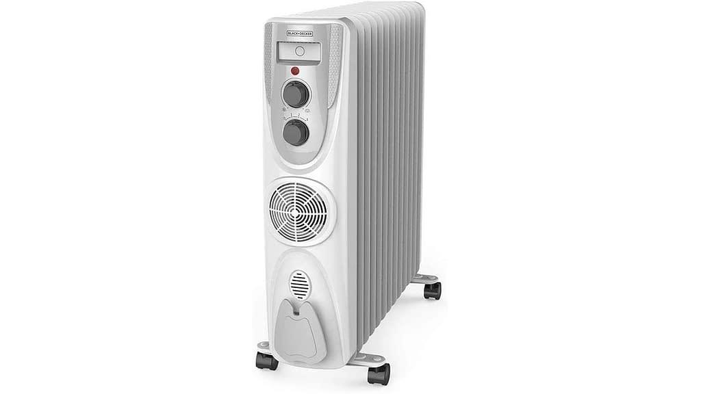 Black+Decker 2800 Watts Oil Filled Radiator Room Heater