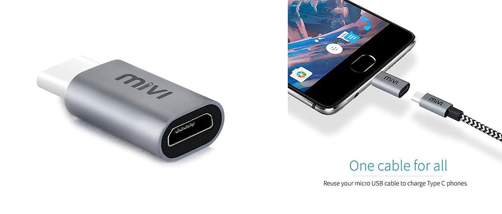 Mivi Type-C to Micro USB OTG Adapter